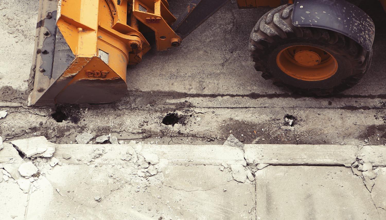Construction Vehicle on Street